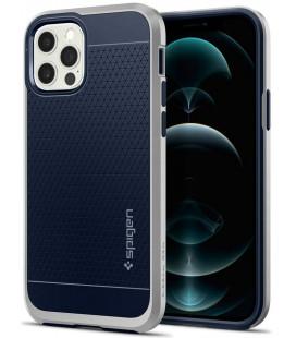 """Sidabrinės spalvos dėklas Apple iPhone 12/12 Pro telefonui """"Spigen Neo Hybrid"""""""