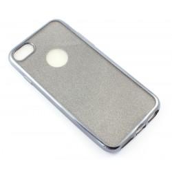 "Juodas silikoninis blizgantis dėklas Apple iPhone 7 telefonui ""Glitter Case Elektro"""