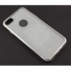 """Sidabrinės spalvos silikoninis blizgantis dėklas Apple iPhone 7 telefonui """"Glitter Case Elektro"""""""