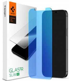 "Apsauginis grūdintas stiklas Apple iPhone 12/12 Pro telefonui ""Spigen Glas.TR Antiblue"""