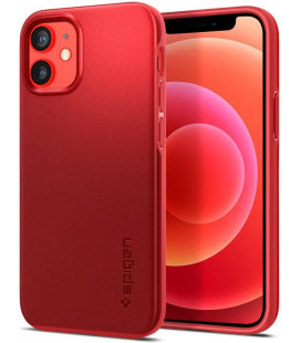 "Raudonas dėklas Apple iPhone 12 Mini telefonui ""Spigen Thin Fit"""