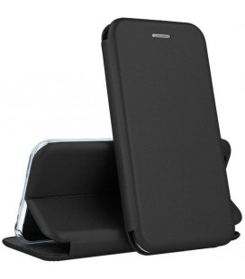 """Juodas atverčiamas dėklas Samsung Galaxy S6 Edge telefonui """"Book Elegance"""""""