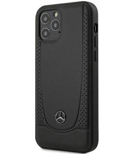 "Juodas dėklas Apple iPhone 12/12 Pro telefonui ""MEHCP12MARMBK Mercedes Leather Urban Cover"""