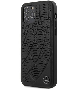 "Juodas dėklas Apple iPhone 12/12 Pro telefonui ""MEHCP12MDIQBK Mercedes Leather Bow Cover"""