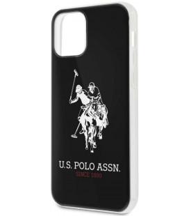 "Juodas dėklas Apple iPhone 12/12 Pro telefonui ""USHCP12MTPUHRBK U.S. Polo PC/TPU Big Horse Cover"""