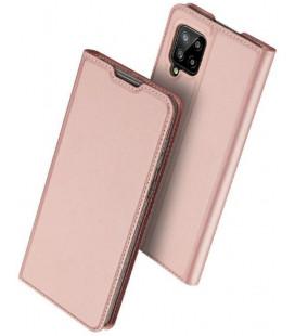 """Rausvai auksinės spalvos atverčiamas dėklas Samsung Galaxy A42 5G telefonui """"Dux Ducis Skin Pro"""""""