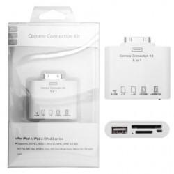 Adapteris iPad 5in1 (kortelių - USB skaitytuvas)