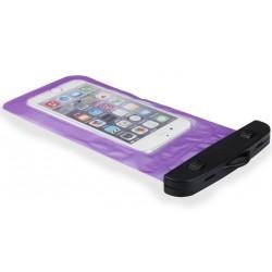 Violetinis universalus vandeniui atsparus telefono dėklas (10cm x 18cm)