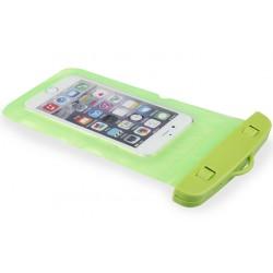 Žalias universalus vandeniui atsparus telefono dėklas (10cm x 18cm)