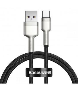 "Juodas USB - Type-C laidas 100cm PD40W/5A ""Baseus Cafule Metal"""