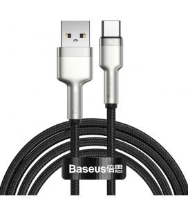 "Juodas USB - Type-C laidas 200cm PD40W/5A ""Baseus Cafule Metal"""