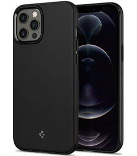"Juodas dėklas Apple iPhone 12 Pro Max telefonui ""Spigen Mag Armor"""