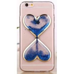 """Mėlynas silikoninis dėklas Apple iPhone 6/6s telefonui """"Liquid Heart"""""""