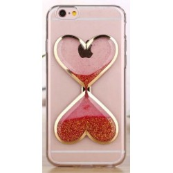"Raudonas silikoninis dėklas Apple iPhone 6/6s telefonui ""Liquid Heart"""