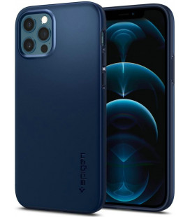 "Mėlynas dėklas Apple iPhone 12/12 Pro telefonui ""Spigen Thin Fit"""
