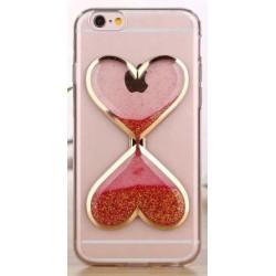 """Raudonas silikoninis dėklas Apple iPhone 5/5s/SE telefonui """"Liquid Heart"""""""