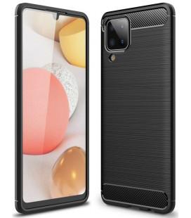 """Juodas dėklas Samsung Galaxy A12 telefonui """"Tech-Protect TPUCarbon"""""""