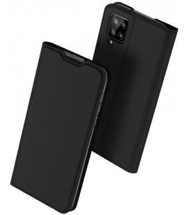 """Juodas atverčiamas dėklas Samsung Galaxy A12 telefonui """"Dux Ducis Skin Pro"""""""
