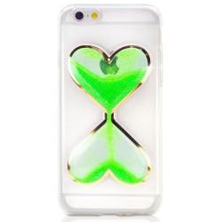 """Žalias silikoninis dėklas Apple iPhone 5/5s/SE telefonui """"Liquid Heart"""""""
