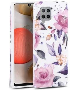"Baltas dėklas Samsung Galaxy A42 5G telefonui ""Tech-protect Floral"""