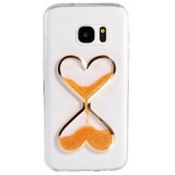 "Oranžinis silikoninis dėklas Samsung Galaxy A5 2016 A510F telefonui ""Liquid Heart"""
