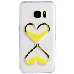 "Geltonas silikoninis dėklas Samsung Galaxy A5 2016 A510F telefonui ""Liquid Heart"""
