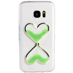 "Žalias silikoninis dėklas Samsung Galaxy A5 2016 A510F telefonui ""Liquid Heart"""