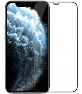 """Juodas apsauginis grūdintas stiklas Apple iPhone 12/12 Pro telefonui """"Nillkin Amazing 2.5D CP+ Pro"""""""