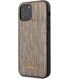 """Auksinės spalvos dėklas Apple iPhone 12 Pro Max telefonui """"GUHCP12LPCUMLLIGO Guess Lizard Cover"""""""