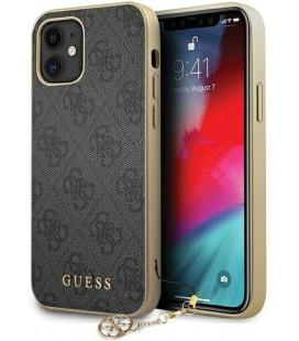 "Pilkas dėklas Apple iPhone 12 Mini telefonui ""GUHCP12SGF4GGR Guess 4G Charms Cover"""