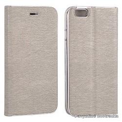 """Pilkas atverčiamas dėklas su rėmeliu Samsung Galaxy S7 Edge G935F telefonui """"Book Vennus Z"""""""