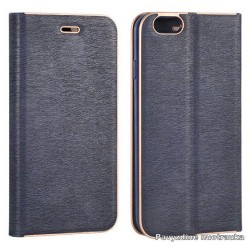 """Mėlynas atverčiamas dėklas su rėmeliu Samsung Galaxy S7 Edge G935F telefonui """"Book Vennus Z"""""""
