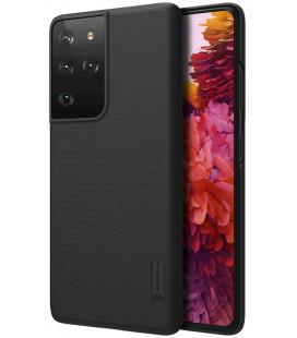 "Juodas dėklas Samsung Galaxy S21 Ultra telefonui ""Nillkin Frosted Shield"""