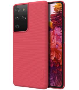 "Raudonas dėklas Samsung Galaxy S21 Ultra telefonui ""Nillkin Frosted Shield"""