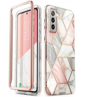"""Dėklas su marmuro efektu Samsung Galaxy S21 telefonui """"Supcase Cosmo"""""""