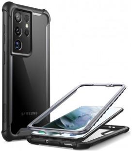 """Juodas dėklas Samsung Galaxy S21 Ultra telefonui """"Supcase IBLSN ARES"""""""
