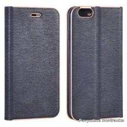 """Mėlynas atverčiamas dėklas su rėmeliu Samsung Galaxy S7 G930F telefonui """"Book Vennus Z"""""""