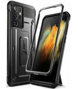 """Juodas dėklas Samsung Galaxy S21 Ultra telefonui """"Supcase Unicorn Beetle Pro"""""""