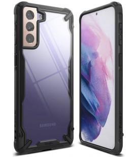 """Juodas dėklas Samsung Galaxy S21 telefonui """"Ringke Fusion X"""""""