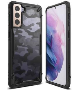 """Juodas (Camo) dėklas Samsung Galaxy S21 telefonui """"Ringke Fusion X"""""""