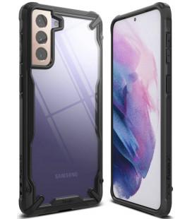 """Juodas dėklas Samsung Galaxy S21 Plus telefonui """"Ringke Fusion X"""""""