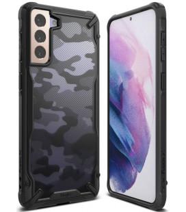 """Juodas (Camo) dėklas Samsung Galaxy S21 Plus telefonui """"Ringke Fusion X"""""""