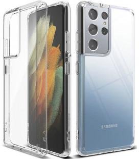 """Skaidrus dėklas Samsung Galaxy S21 Ultra telefonui """"Ringke Fusion"""""""