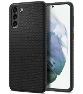 """Juodas dėklas Samsung Galaxy S21 Plus telefonui """"Spigen Liquid Air"""""""