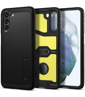 """Juodas dėklas Samsung Galaxy S21 telefonui """"Spigen Tough Armor"""""""