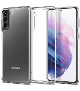 "Skaidrus dėklas Samsung Galaxy S21 Plus telefonui ""Spigen Ultra Hybrid"""