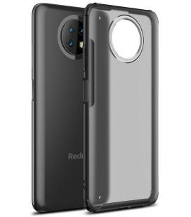 """Juodas matinis dėklas Xiaomi Redmi Note 9T 5G telefonui """"Tech-Protect Hybridshell"""""""