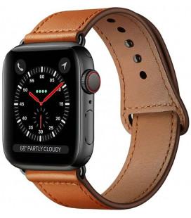 """Ruda apyrankė Apple Watch 4 / 5 / 6 / 7 / SE (42 / 44 / 45 mm) laikrodžiui """"Tech-Protect Leatherfit"""""""