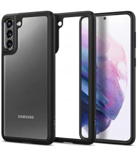 "Juodas dėklas Samsung Galaxy S21 telefonui ""Spigen Ultra Hybrid"""