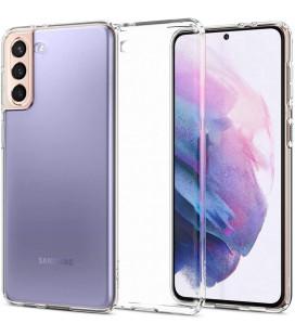 "Skaidrus dėklas Samsung Galaxy S21 telefonui ""Spigen Liquid Crystal"""